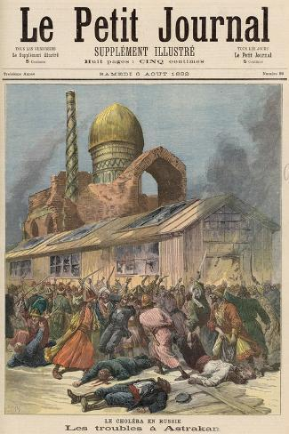 Cholera in Russia: The Troubles in Astrakhan, from Le Petit Journal, 6th August 1892-Henri Meyer-Stretched Canvas Print
