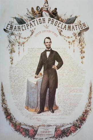 Souvenir Print of the Emancipation Proclamation, Issued 1st January 1863--Stretched Canvas Print