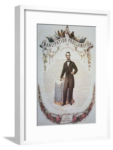 Souvenir Print of the Emancipation Proclamation, Issued 1st January 1863--Framed Art Print