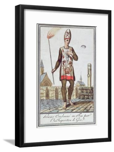 Man Condemned by the Inquisition of Goa to Be Burnt at the Stake, Late 18th Century--Framed Art Print