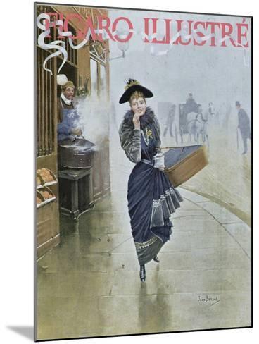 Young Parisian Hatmaker, Cover Illustration of 'Figaro Illustre', February 1892-Jean B?raud-Mounted Giclee Print