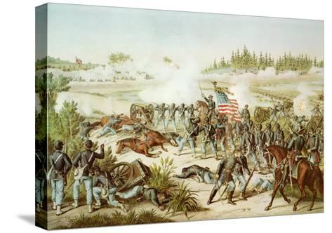 Black Troops of the 54th Massachusetts Regiment at the Battle of Olustee, Florida, 1864--Stretched Canvas Print