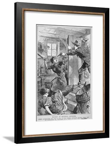 Revenue Officers Raid Illegal Liquor Still in the Georgia Mountains, the 'Police Gazette', 1895--Framed Art Print