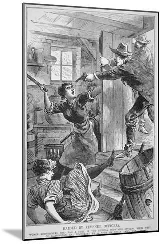 Revenue Officers Raid Illegal Liquor Still in the Georgia Mountains, the 'Police Gazette', 1895--Mounted Giclee Print