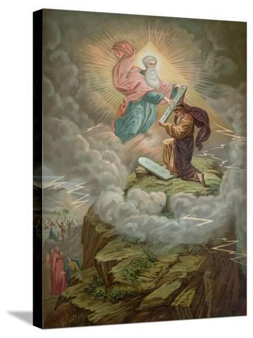 Moses Receives the Tablets of the Law from God on Mount Sinai--Stretched Canvas Print