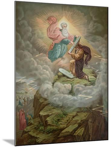 Moses Receives the Tablets of the Law from God on Mount Sinai--Mounted Giclee Print