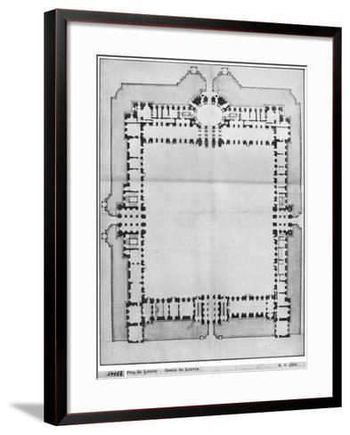 Design For the Eastern Buildings of the Louvre, from Recueil du Louvre-Louis Le Vau-Framed Art Print