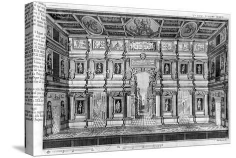 The Olympic Theatre at Vicenza, Designed by Andrea Palladio--Stretched Canvas Print