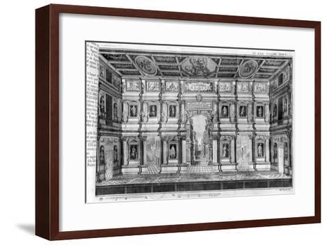 The Olympic Theatre at Vicenza, Designed by Andrea Palladio--Framed Art Print