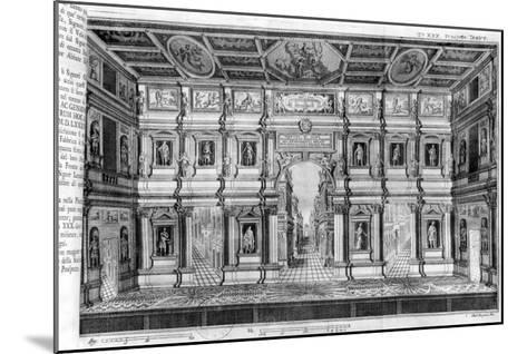 The Olympic Theatre at Vicenza, Designed by Andrea Palladio--Mounted Giclee Print