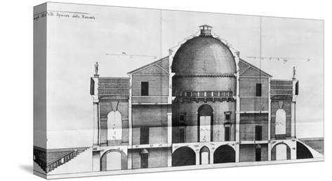 Cross-Section of the Villa Rotonda Near Vicenza, Designed by Andrea Palladio--Stretched Canvas Print