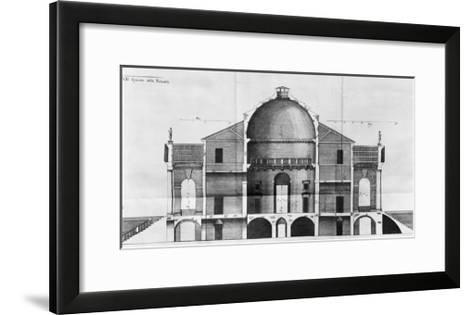 Cross-Section of the Villa Rotonda Near Vicenza, Designed by Andrea Palladio--Framed Art Print