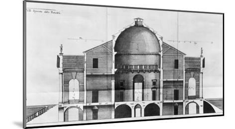 Cross-Section of the Villa Rotonda Near Vicenza, Designed by Andrea Palladio--Mounted Giclee Print