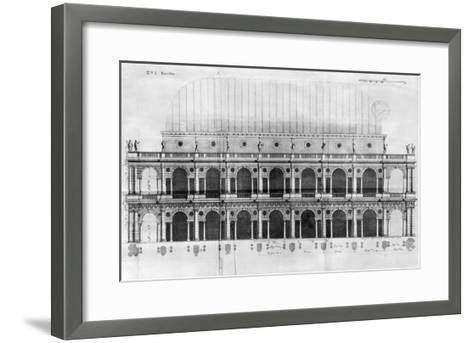 Basilica Palladiana at Vicenza, Designed by Andrea Palladio--Framed Art Print