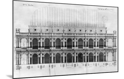 Basilica Palladiana at Vicenza, Designed by Andrea Palladio--Mounted Giclee Print