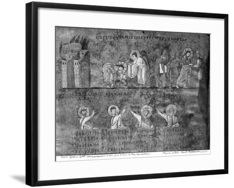 Good Samaritan, from the Codex Purpureus--Framed Art Print