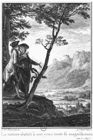 Profession of Faith of the Savoyard Vicar, Illustration from L'Emile by Jean-Jacques Rousseau-Jean-Michel Moreau the Younger-Stretched Canvas Print