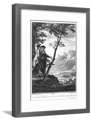 Profession of Faith of the Savoyard Vicar, Illustration from L'Emile by Jean-Jacques Rousseau-Jean-Michel Moreau the Younger-Framed Art Print