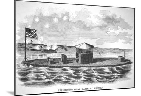 The Steam-Powered Ironclad USS Monitor, Designed by John Ericsson--Mounted Giclee Print
