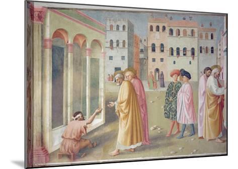 St. Peter Healing a Cripple, c.1427-Tommaso Masolino Da Panicale-Mounted Giclee Print