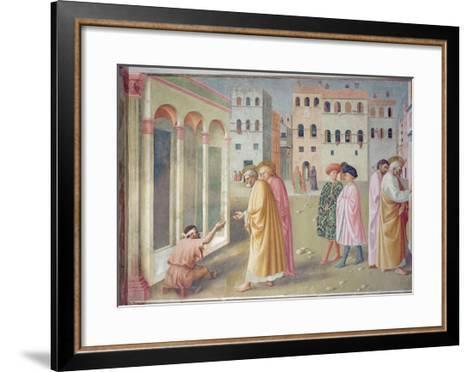 St. Peter Healing a Cripple, c.1427-Tommaso Masolino Da Panicale-Framed Art Print