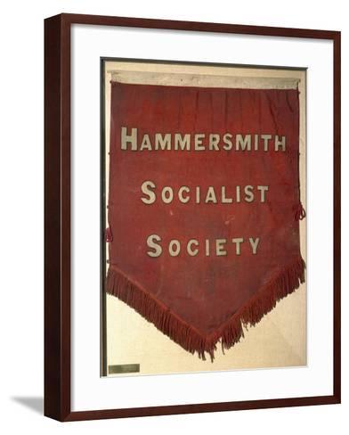 Banner of the Hammersmith Socialist Society-William Morris-Framed Art Print