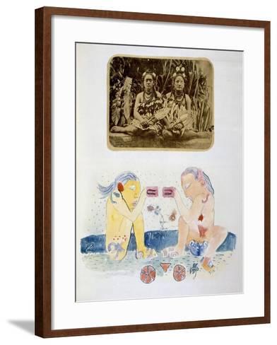 Illustrations from Noa Noa, Voyage a Tahiti, Published 1926-Paul Gauguin-Framed Art Print