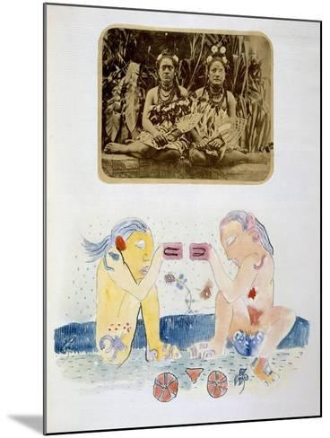 Illustrations from Noa Noa, Voyage a Tahiti, Published 1926-Paul Gauguin-Mounted Giclee Print