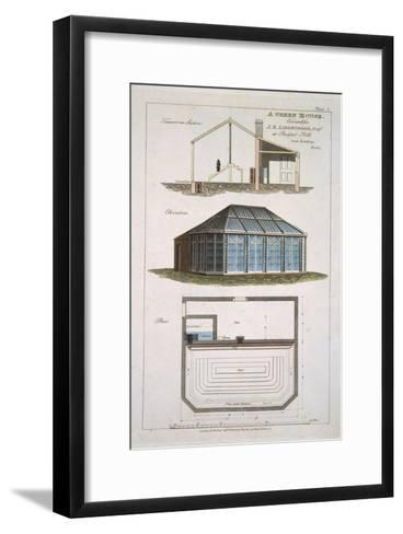 Design For a Green House Executed For J. E Liebenrood at Prospect Hill--Framed Art Print