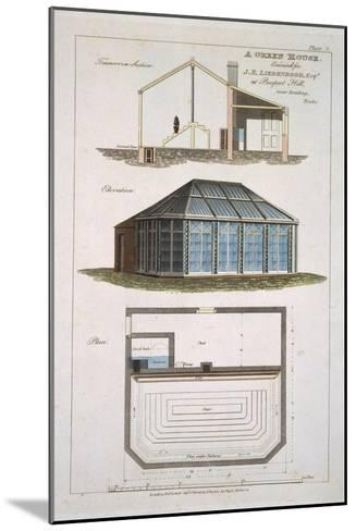 Design For a Green House Executed For J. E Liebenrood at Prospect Hill--Mounted Giclee Print