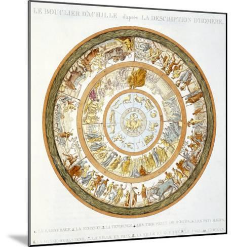 The Shield of Achilles, After the Description in Homer's Iliad, 1815--Mounted Giclee Print