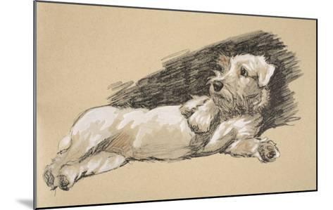 Terrier Detail, 1930, Just Among Friends, Aldin, Cecil Charles Windsor-Cecil Aldin-Mounted Giclee Print