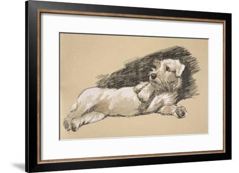 Terrier Detail, 1930, Just Among Friends, Aldin, Cecil Charles Windsor-Cecil Aldin-Framed Art Print