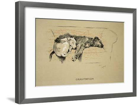 Gravitation, 1930, 1st Edition of Sleeping Partners-Cecil Aldin-Framed Art Print