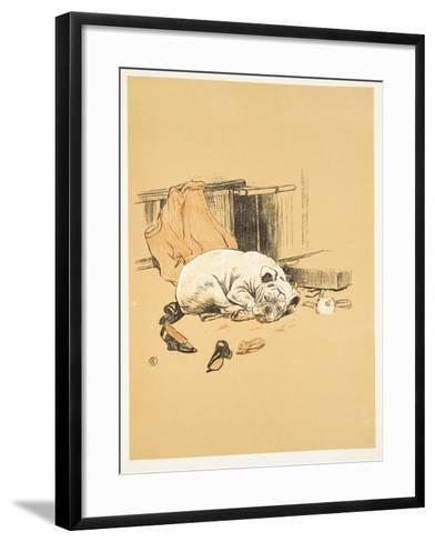 Not Finding the Chocolates, A Gay Dog, Story of a Foolish Year, Aldin, Cecil Charles Windsor-Cecil Aldin-Framed Art Print