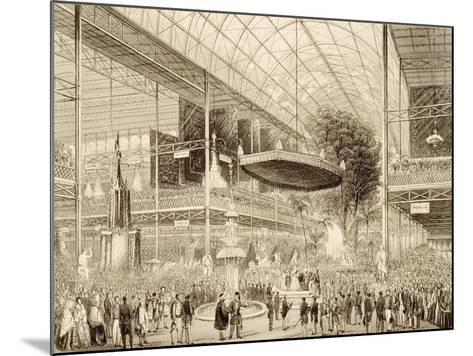 Interior of the Great Exhibition, Grand State Opening May 1, 1851--Mounted Giclee Print