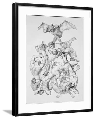 Beelzebub Expels the Fallen Angels, Illustration For an Edition of Paradise Lost by John Milton-Richard Edmond Flatters-Framed Art Print