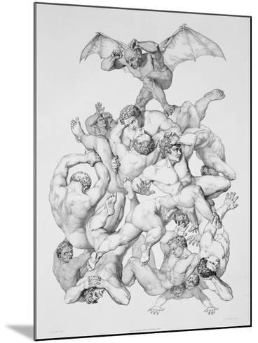 Beelzebub Expels the Fallen Angels, Illustration For an Edition of Paradise Lost by John Milton-Richard Edmond Flatters-Mounted Giclee Print