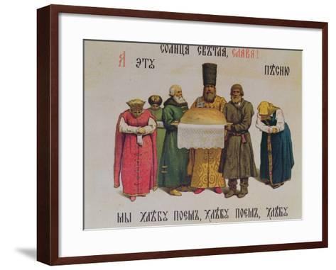 Blessing the Bread and Salt, Late 19th Century--Framed Art Print