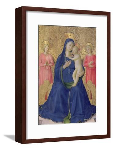 The Bosco Ai Frati Altarpiece: The Virgin and Child Enthroned with Two Angels, 1452-Fra Angelico-Framed Art Print