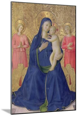 The Bosco Ai Frati Altarpiece: The Virgin and Child Enthroned with Two Angels, 1452-Fra Angelico-Mounted Giclee Print