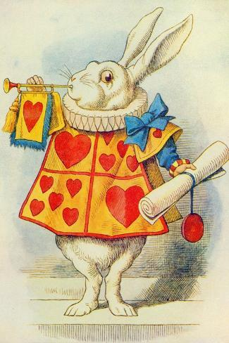 The White Rabbit, Illustration from Alice in Wonderland by Lewis Carroll-John Tenniel-Stretched Canvas Print