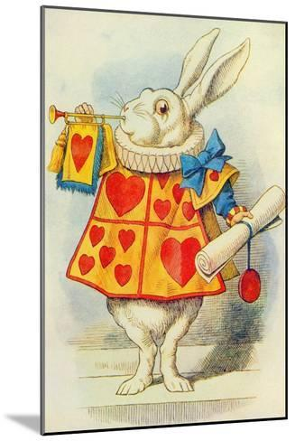The White Rabbit, Illustration from Alice in Wonderland by Lewis Carroll-John Tenniel-Mounted Giclee Print