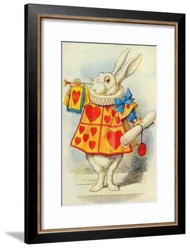 The White Rabbit, Illustration from Alice in Wonderland by Lewis Carroll-John Tenniel-Framed Art Print