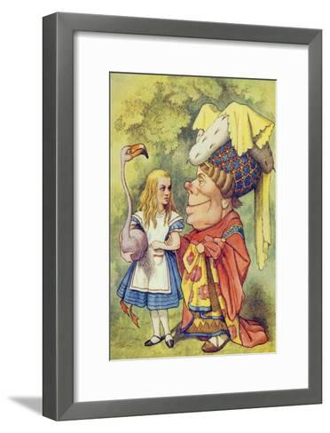 Alice with the Duchess, Illustration from Alice in Wonderland by Lewis Carroll-John Tenniel-Framed Art Print