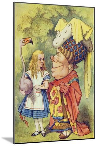 Alice with the Duchess, Illustration from Alice in Wonderland by Lewis Carroll-John Tenniel-Mounted Giclee Print
