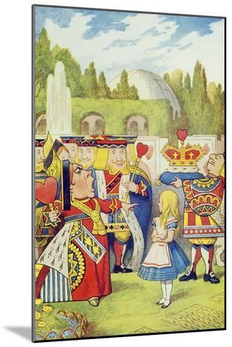 Queen Has Come! and Isn't She Angry, Illustration from Alice in Wonderland by Lewis Carroll-John Tenniel-Mounted Giclee Print