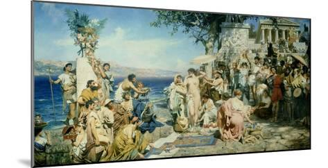 Phryne at the Festival of Poseidon in Eleusin-Henryk Siemieradzki-Mounted Giclee Print