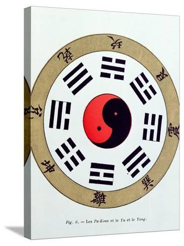 The Pa-Kua Symbol, Showing the Symbols For the Eight Changes, the Trigrams and Yin and Yang--Stretched Canvas Print