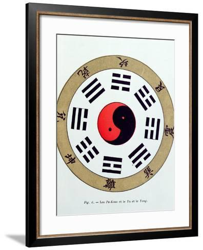 The Pa-Kua Symbol, Showing the Symbols For the Eight Changes, the Trigrams and Yin and Yang--Framed Art Print